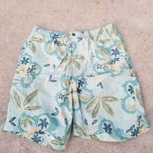Tommy Bahama Floral Swim Shorts Mesh Lined
